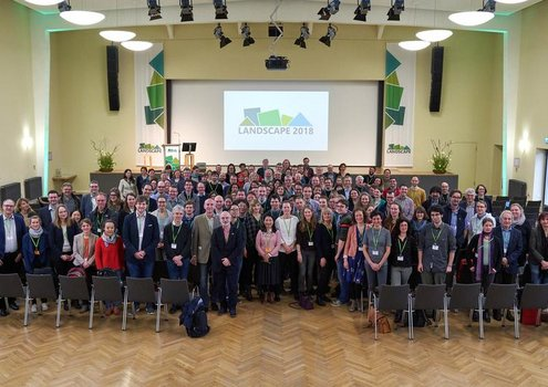 "Participants of the first international ""Landscape 2018"" conference in Berlin. <br/> Photo: © Tony Haupt"