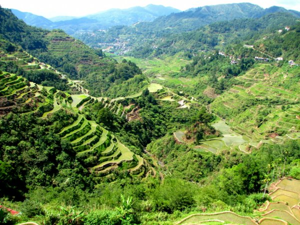 The world famous rice terraces in Banaue, Philippines