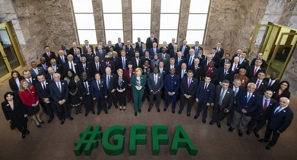 Agriculture ministers from 74 states met at the GFFA.