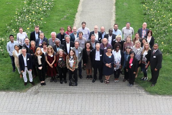 Members of Agrinatura celebrating its 30th anniversary at the University of Hohenheim, Germany.<br/> Photo: © Agrinatura