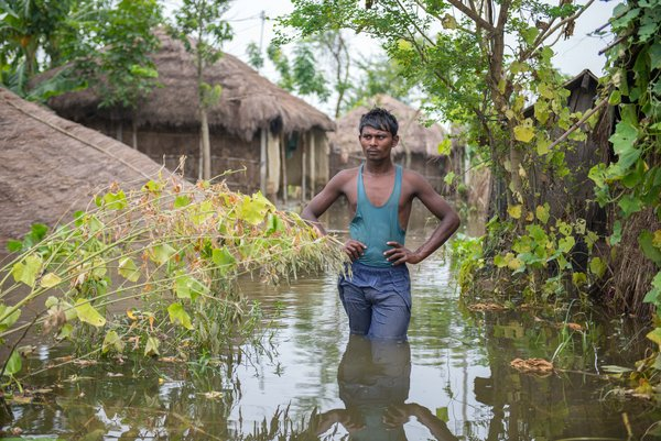 Floods have destroyed hundreds of villages India, Bangladesh and Nepal. <br/>Photo: © World Vision