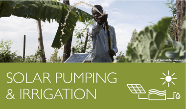 Cover of the online-toolbox on solar irrigation